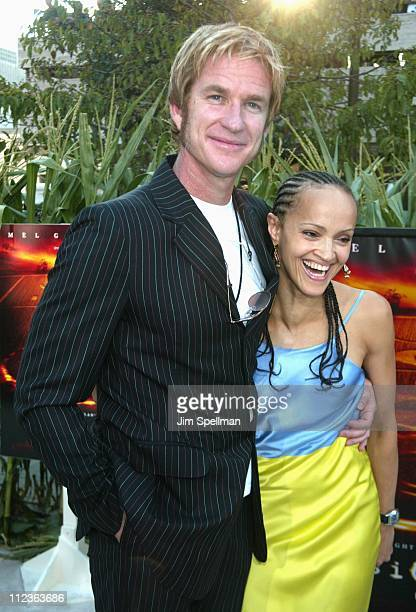 Matthew Modine wife Caridad during 'Signs' Premiere New York at Alice Tully Hall in New York City New York United States