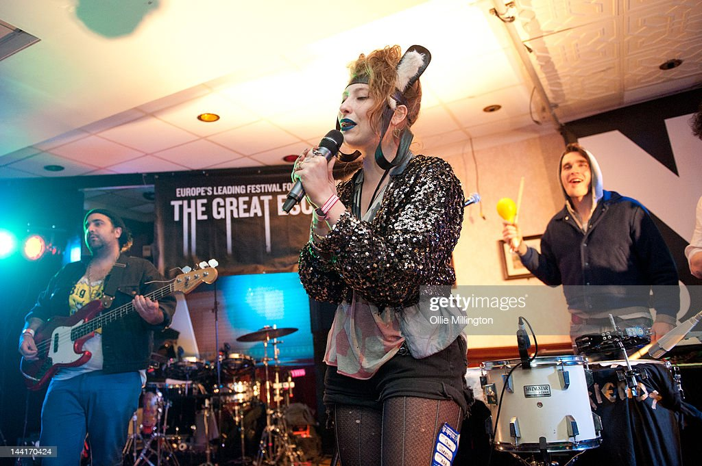 Matthew Molnar, Samantha Urbani and Oliver Duncan of Friends perform on stage at Horatio's on Brighton Pier presented by NME Radar during The Great Escape Festival on May 10, 2012 in Brighton, United Kingdom.