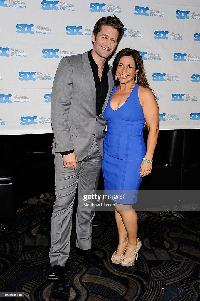 Matthew Morrison (L) and Marissa Jaret Winokur attend the 2013 Mr. Abbott Award event at B.B. King Blues Club & Grill on May 13, 2013 in New York City.