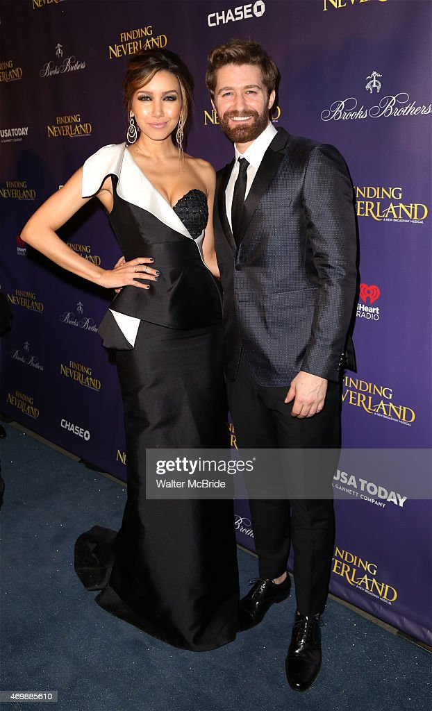 Matthew Morrison and wife Renee Puente attending the Broadway Opening Night Performance After Party for 'Finding Neverland' at Metropolitan Club on...