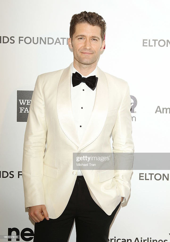 Matthew Morrison arrives at the 21st Annual Elton John AIDS Foundation Academy Awards viewing party held at West Hollywood Park on February 24, 2013 in West Hollywood, California.