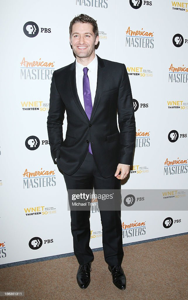 <a gi-track='captionPersonalityLinkClicked' href=/galleries/search?phrase=Matthew+Morrison&family=editorial&specificpeople=171674 ng-click='$event.stopPropagation()'>Matthew Morrison</a> arrives at the Los Angeles premiere of 'Inventing David Geffen' held at Writer's Guild Theater on November 13, 2012 in Los Angeles, California.
