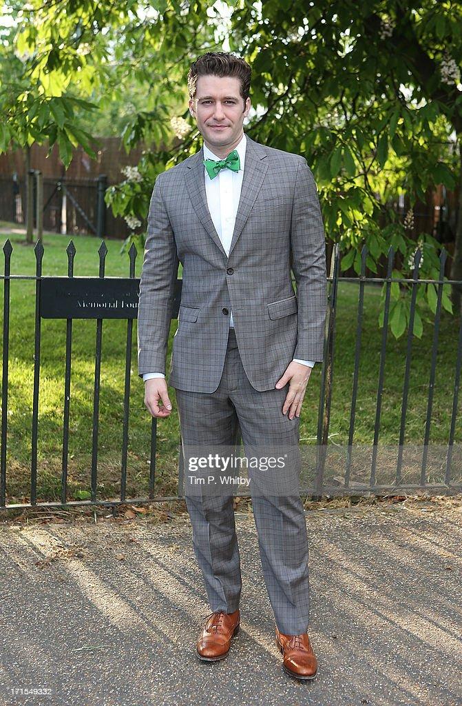 Matthew Morrison attends the annual Serpentine Gallery summer party at The Serpentine Gallery on June 26, 2013 in London, England.
