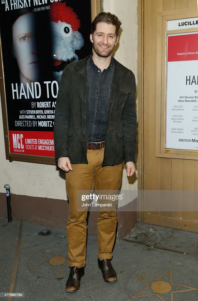 Matthew Morrison attends the 'Hand Of God' OffBroadway Opening Night at Lucille Lortel Theatre on March 10 2014 in New York City