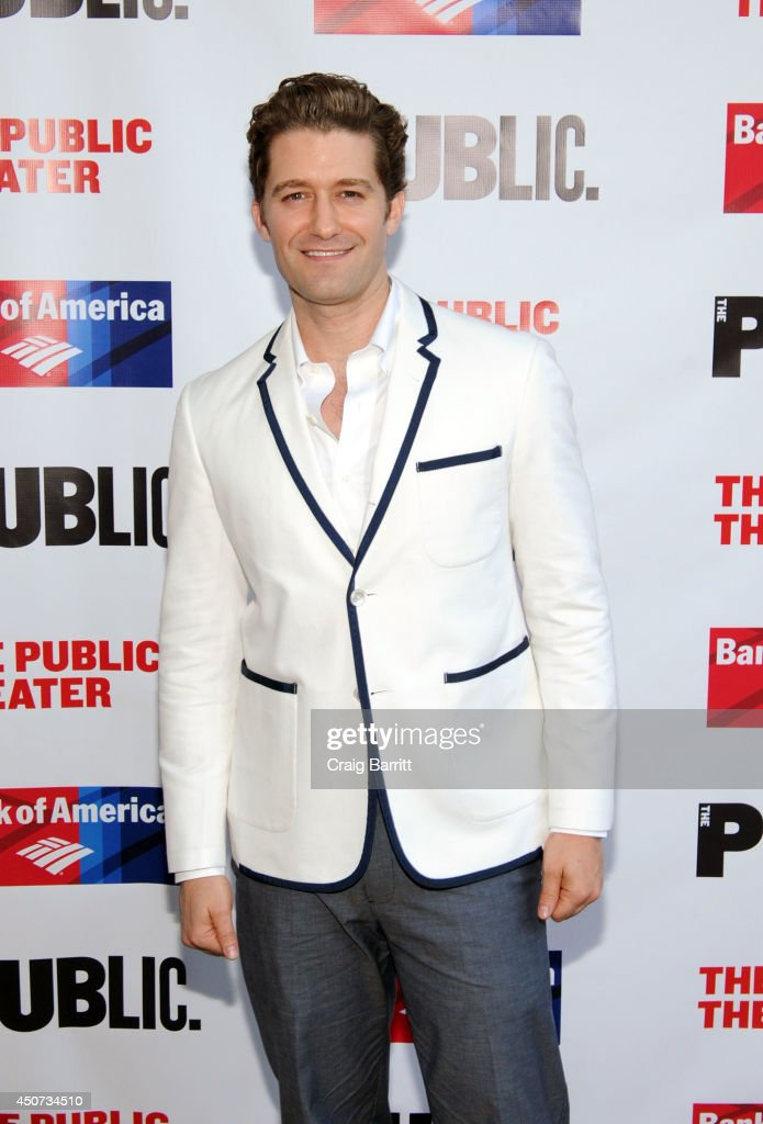Matthew Morrison attends The Public Theater's opening night of 'Much Ado About Nothing' at Delacorte Theater on June 16 2014 in New York City