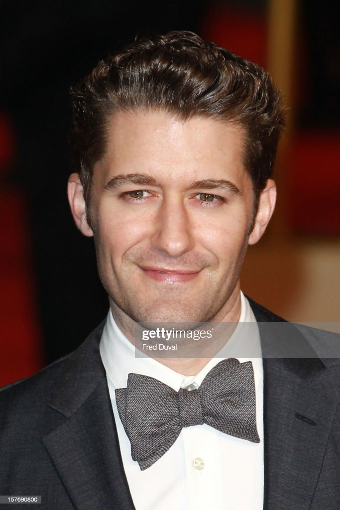 Matthew Morrison attends the world premiere of 'Les Miserables' at Odeon Leicester Square on December 5, 2012 in London, England.