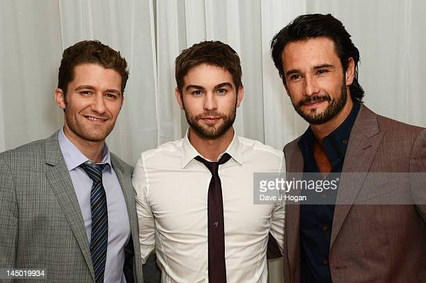 Matthew Morrison Chace Crawford and Rodrigo Santoro attend the UK premiere afterpaty of 'What To Expect When You're Expecting' at The Sanderson Hotel...