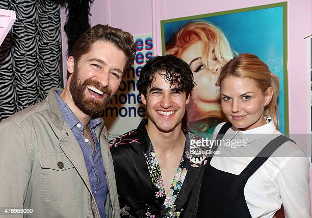 Matthew Morrison Darren Criss and Jennifer Morrison pose backstage at the hit musical 'Hedwig The Angry Inch' on Broadway at The Belasco Theater on...