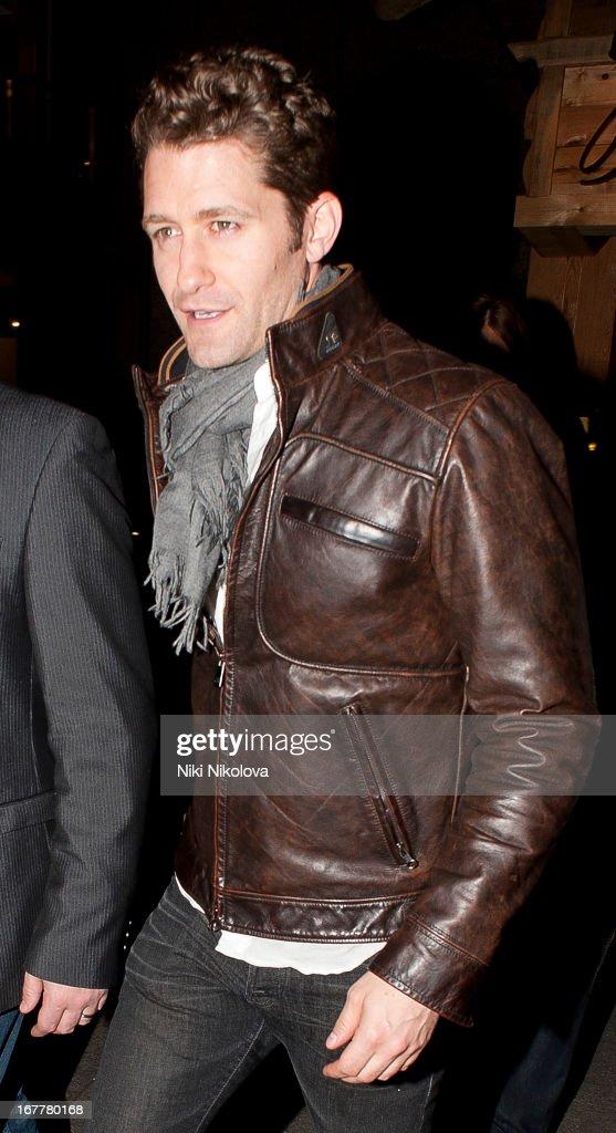 Matthew Morrison sighting at Bodo's restaurant, Kensington on April 29, 2013 in London, England.
