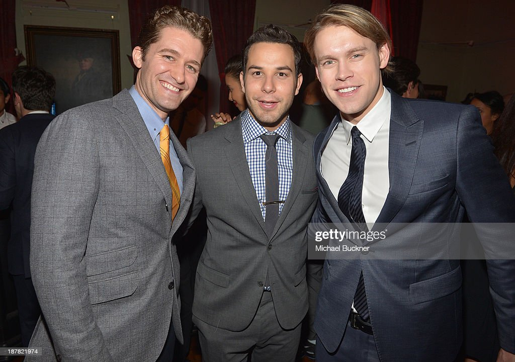 Matthew Morrison Skylar Astin and Chord Overstreet attend the GQ Men Of The Year Party at The Ebell Club of Los Angeles on November 12 2013 in Los...