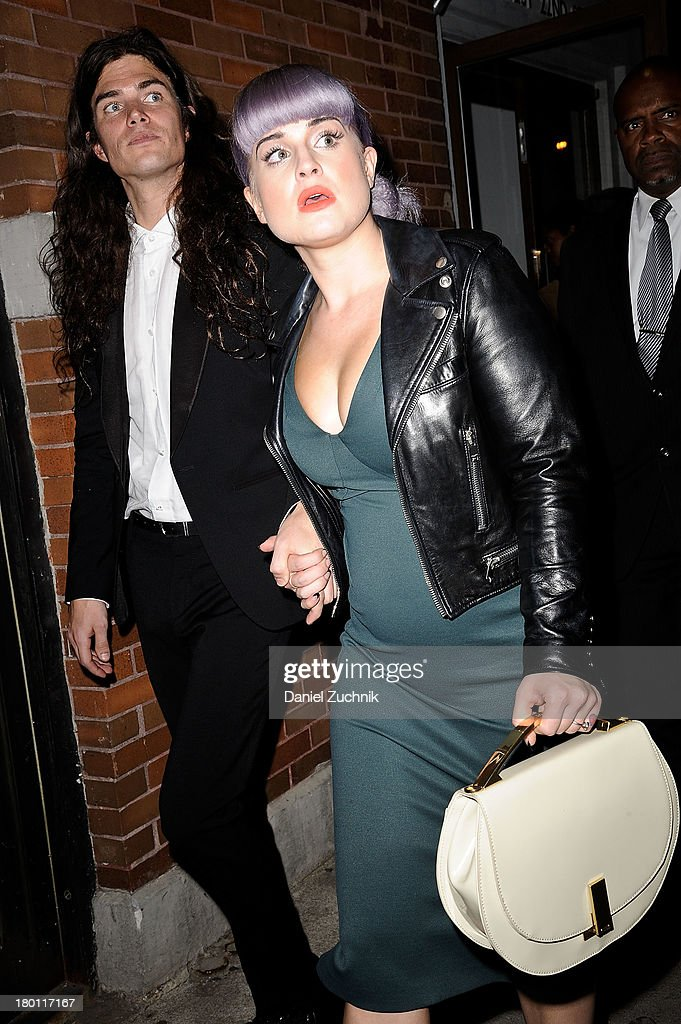Matthew Mosshart and <a gi-track='captionPersonalityLinkClicked' href=/galleries/search?phrase=Kelly+Osbourne&family=editorial&specificpeople=156416 ng-click='$event.stopPropagation()'>Kelly Osbourne</a> are seen outside the Zac Posen show on September 8, 2013 in New York City.