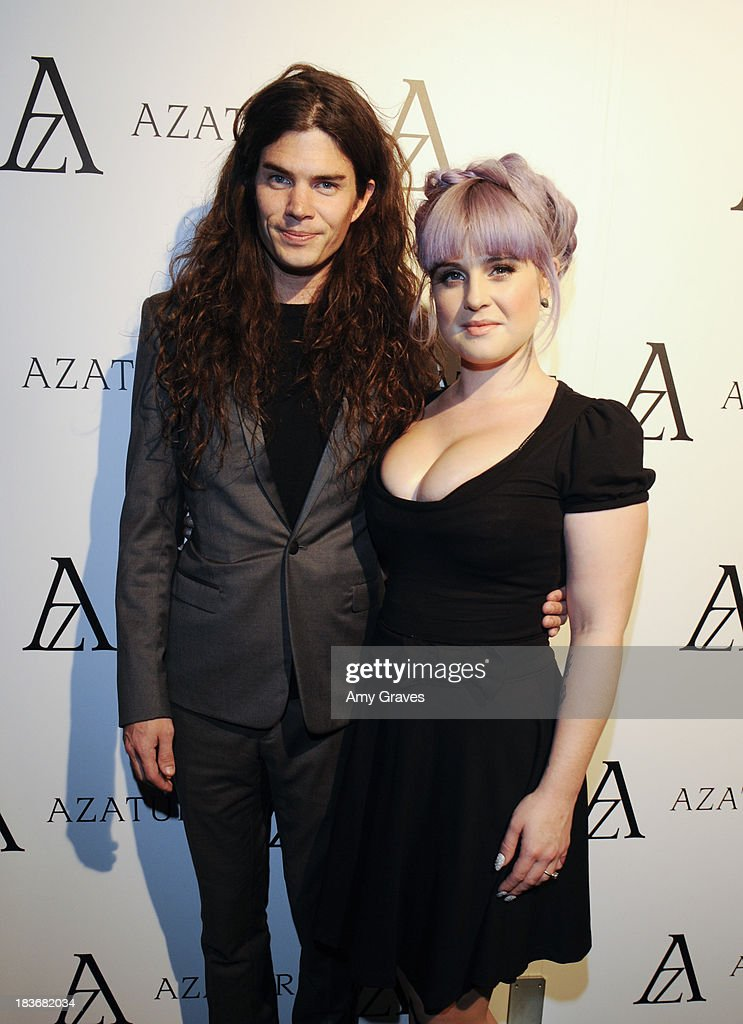 Matthew Mosshart and <a gi-track='captionPersonalityLinkClicked' href=/galleries/search?phrase=Kelly+Osbourne&family=editorial&specificpeople=156416 ng-click='$event.stopPropagation()'>Kelly Osbourne</a> attend the Black Diamond Affair Presented by Azature at Sunset Tower on October 8, 2013 in West Hollywood, California.