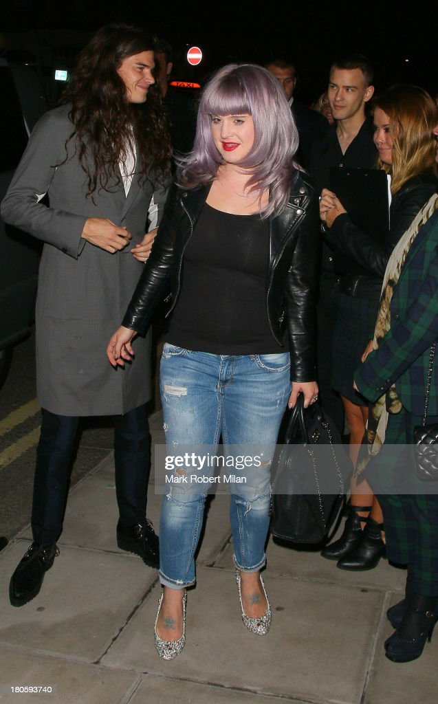 Matthew Mosshart and Kelly Osbourne attend the W Magazine September issue party at The London EDITION hotel on September 14, 2013 in London, England.