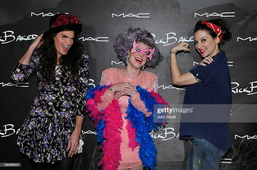 Matthew Mosshart, <a gi-track='captionPersonalityLinkClicked' href=/galleries/search?phrase=Kelly+Osbourne&family=editorial&specificpeople=156416 ng-click='$event.stopPropagation()'>Kelly Osbourne</a> and guest attend MAC Cosmetics and Rick Baker's Monster Mash on October 19, 2013 in Glendale, California.