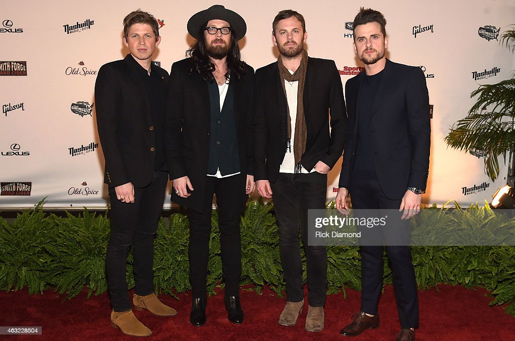 Matthew Nathan Caleb and Jared Followill of Kings of Leon attend the Sports Illustrated 2015 Swimsuit Takes Over Nashville With Kings of Leon event...