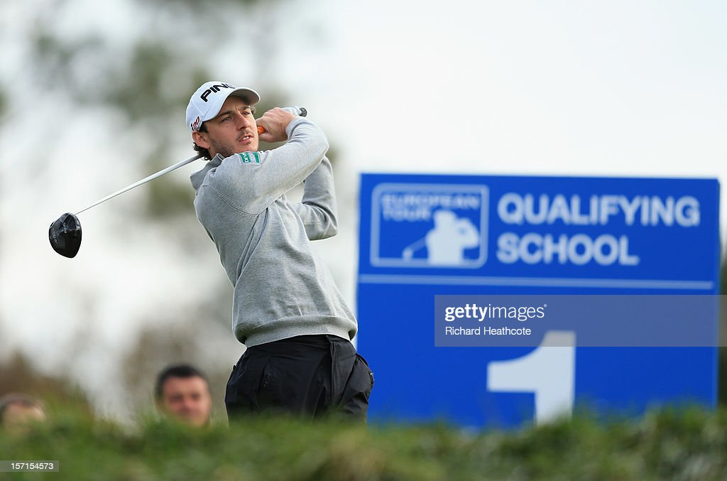 Matthew Nixon of England in action during the final round of the European Tour Qualifying School Finals at PGA Catalunya Resort on November 29, 2012 in Girona, Spain.