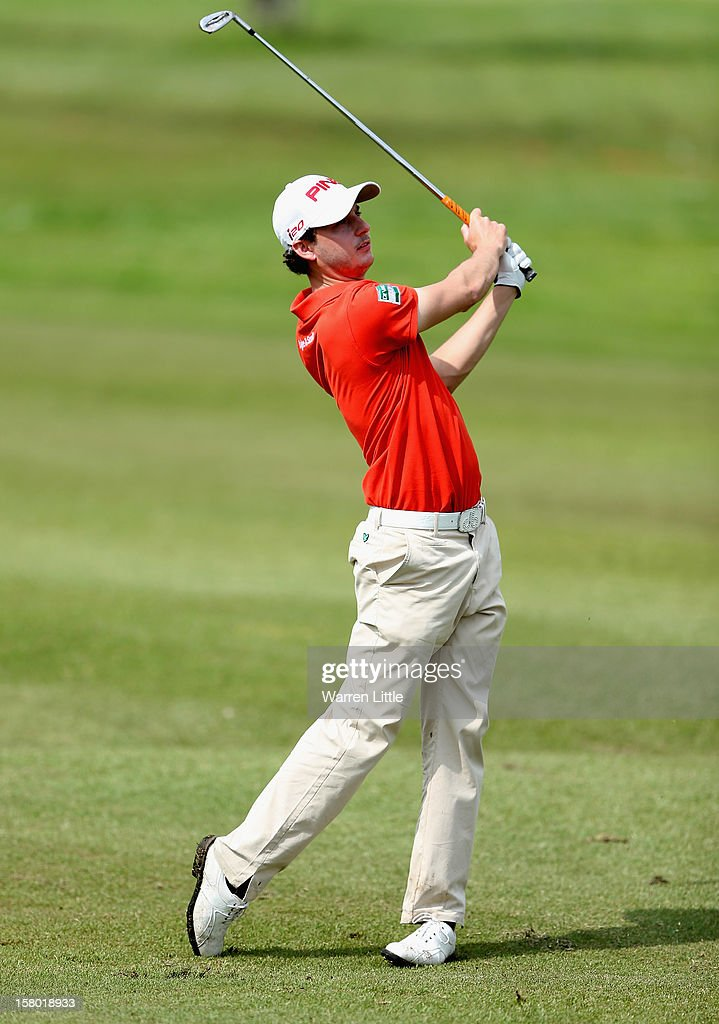 Matthew Nixon of England in action during the second round of The Nelson Mandela Championship presented by ISPS Handa at Royal Durban Golf Club on December 9, 2012 in Durban, South Africa.