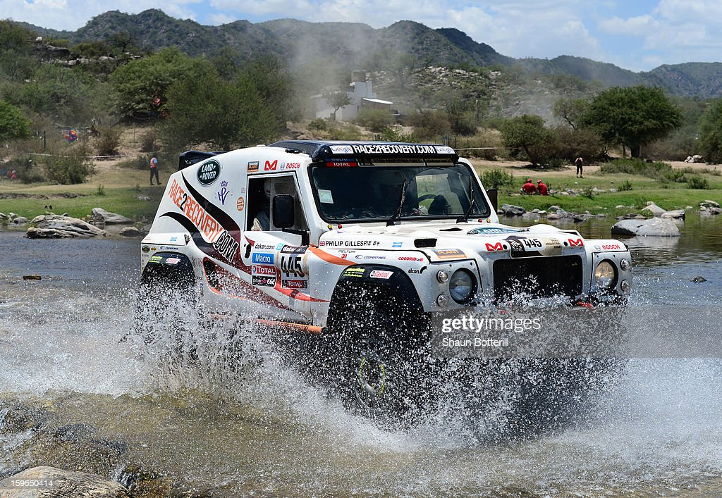 Matthew O«Hare and co-driver Philip Gillepsie of team Race2Recovery compete in stage 10 from Cordoba to La Rioja during the 2013 Dakar Rally on January 15, 2013 in Cordoba, Argentina.