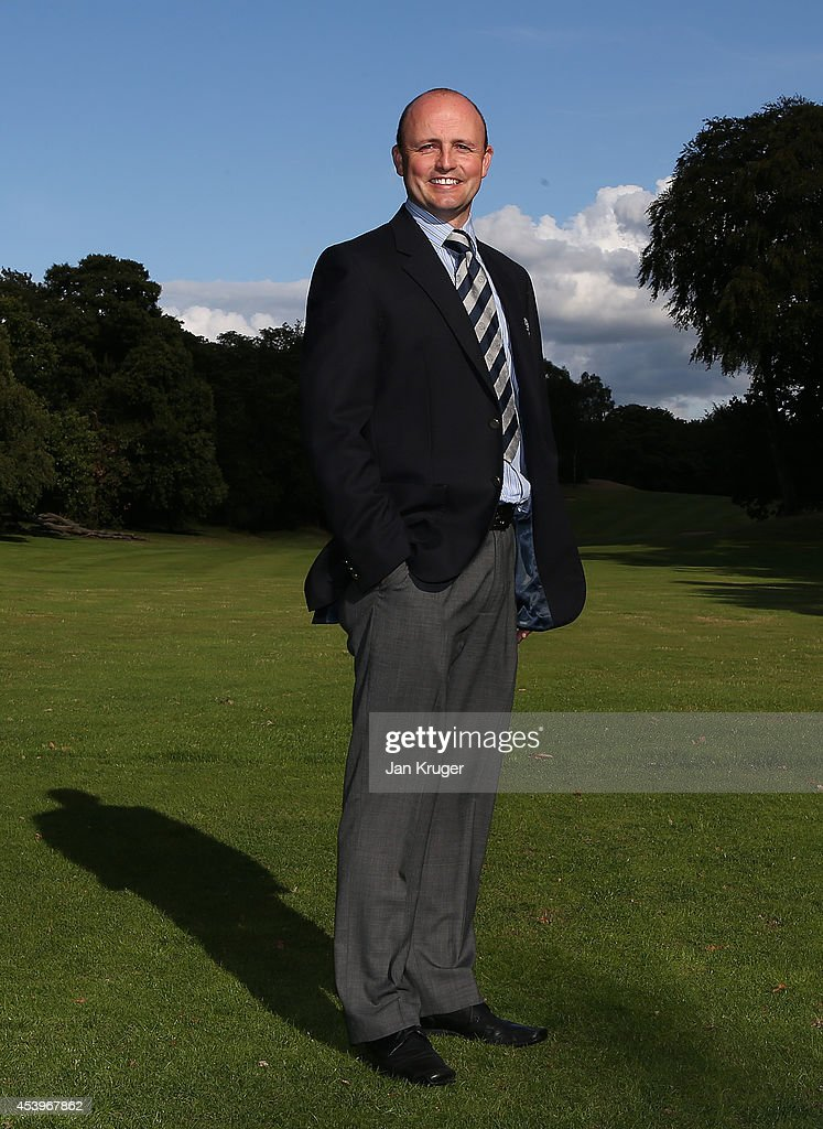 Matthew Parsley of Holywell GC poses after winning the Golfplan Insurance PGA Pro-Captain Challenge - North (West) Regional Qualifier at Dunham Forest Golf and Country Club on August 22, 2014 in Altrincham, England.