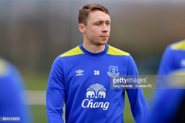 Matthew Pennington during the Everton FC training session at USM Finch Farm on February 9 2017 in Halewood England