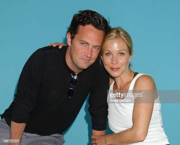 Matthew Perry and Christina Applegate at the 2004 Target A Time for Heroes Celebrity Carnival to benefit the Elizabeth Glaser Pediatric AIDS...
