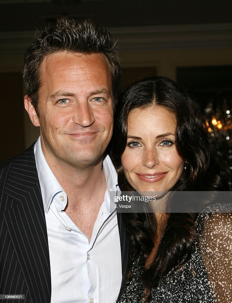 Matthew Perry and Courteney Cox Arquette during AFI Honors Hollywood's Arquette Family With The Sixth Annual 'Platinum Circle Awards' Green Room and...