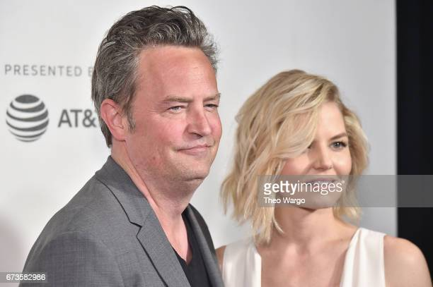 Matthew Perry and Jennifer Morrison attend 'The Circle' Premiere at the BMCC Tribeca PAC on April 26 2017 in New York City