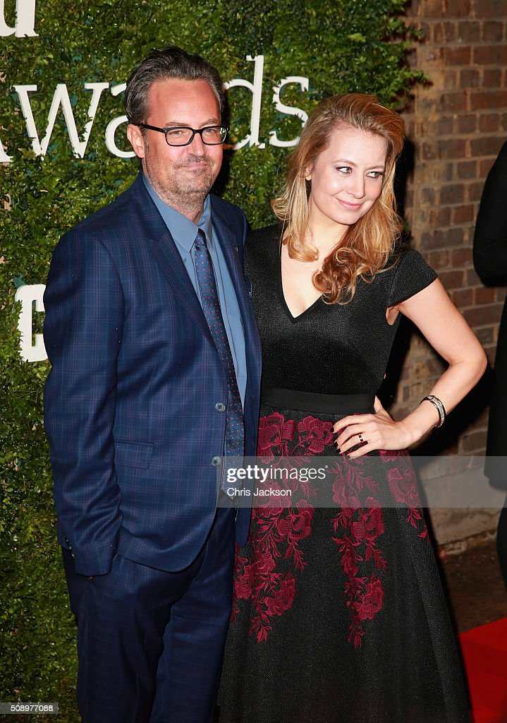<a gi-track='captionPersonalityLinkClicked' href=/galleries/search?phrase=Matthew+Perry&family=editorial&specificpeople=202851 ng-click='$event.stopPropagation()'>Matthew Perry</a> and Jennifer Mudge attend the London Evening Standard British Film Awards at Television Centre on February 7, 2016 in London, England.