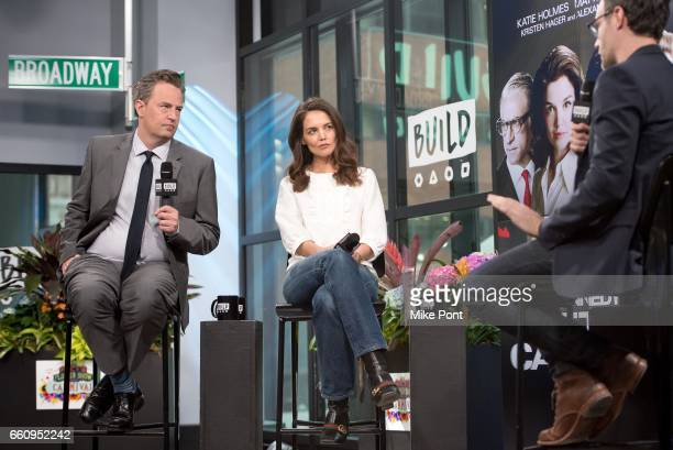 Matthew Perry and Katie Holmes attend Build Series to discuss 'The Kennedys After Camelot' at Build Studio on March 30 2017 in New York City