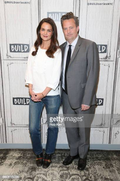 Matthew Perry and Katie Holmes attend the Build Series at Build Studio on March 30 2017 in New York City