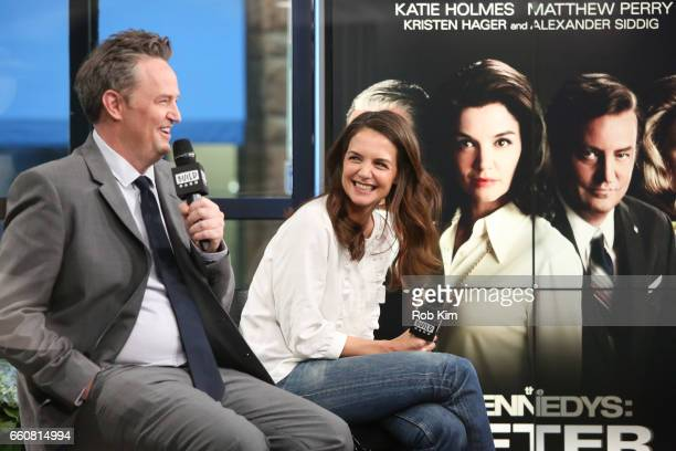 Matthew Perry and Katie Holmes discuss 'The Kennedys After Camelot' during the Build Series at Build Studio on March 30 2017 in New York City