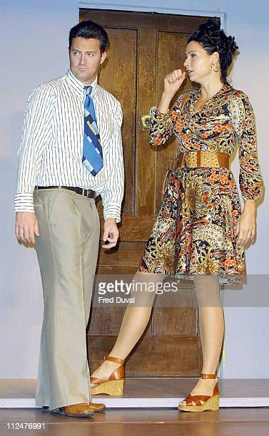 Matthew Perry and Minnie Driver during Matthew Perry In The Theatrical Production OF 'Sexual Perversity In Chicago' at Comedy Theatre in London Great...