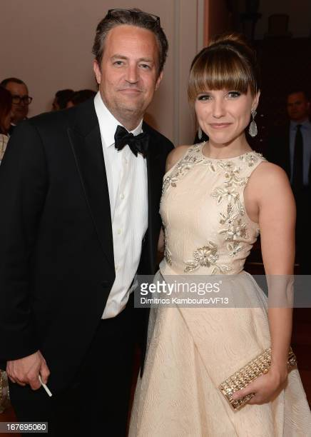 Matthew Perry and Sophia Bush attends the Bloomberg Vanity Fair cocktail reception following the 2013 WHCA Dinner at the residence of the French...