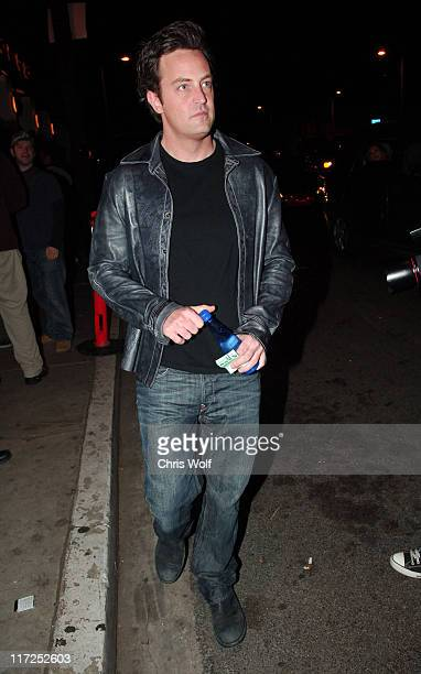 Matthew Perry at club Area during Celebrity Sightings at Club Area and Koi December 14 2006 at Club Area and Koi in West Hollywood California United...