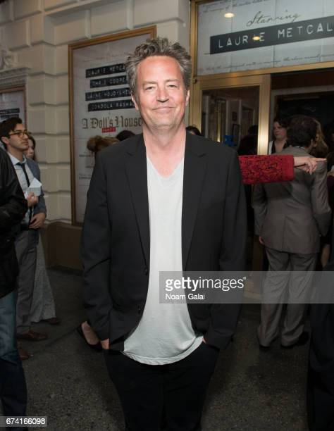Matthew Perry attends the opening night on Broadway of Lucas Hnath's 'A Doll's House Part 2' starring Laurie Metcalf and Chris Cooper at Golden...