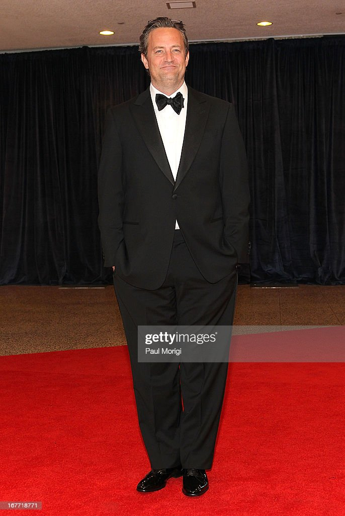 <a gi-track='captionPersonalityLinkClicked' href=/galleries/search?phrase=Matthew+Perry&family=editorial&specificpeople=202851 ng-click='$event.stopPropagation()'>Matthew Perry</a> attends the White House Correspondents' Association Dinner at the Washington Hilton on April 27, 2013 in Washington, DC.