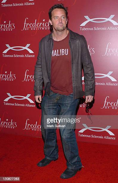 Matthew Perry during Frederick's of Hollywood Presents Their '2006 Spring Collection Fashion Show' Arrivals at The Avalon in Hollywood California...