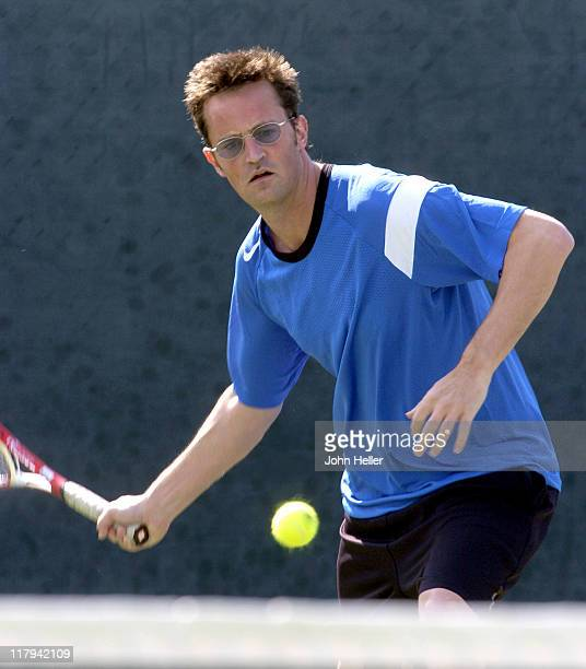 Matthew Perry during The Cystic Fibrosis 19th Annual Celebrity Tennis Tournament To Fund Research Toward A Cure at Manhattan Country Club in...