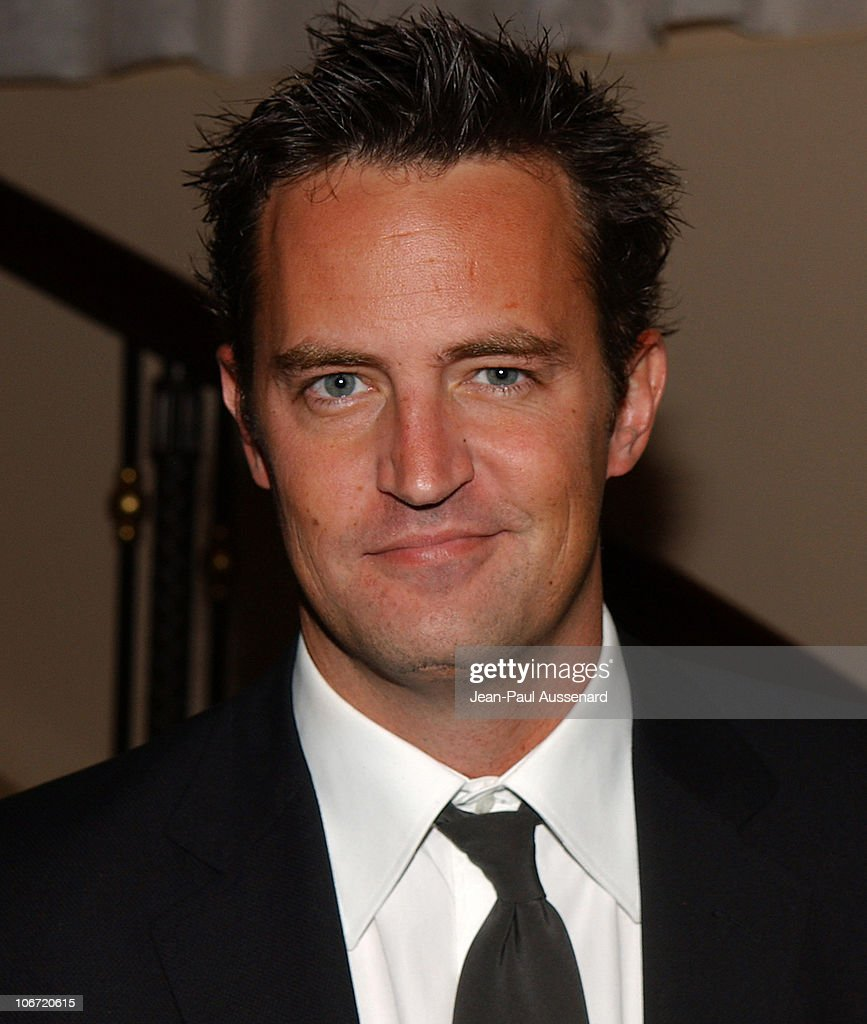 <a gi-track='captionPersonalityLinkClicked' href=/galleries/search?phrase=Matthew+Perry&family=editorial&specificpeople=202851 ng-click='$event.stopPropagation()'>Matthew Perry</a> during The Museum of Television and Radio Honors CBS News's Dan Rather and 'Friends' Producing Team - Inside at Beverly Hills Hotel in Beverly Hills, California, United States.