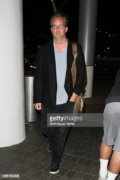 Matthew Perry is seen at LAX on November 25 2015 in Los Angeles California