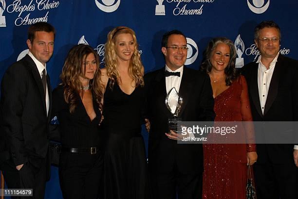 Matthew Perry Jennifer Aniston and Lisa Kudrow and creators of 'Friends'
