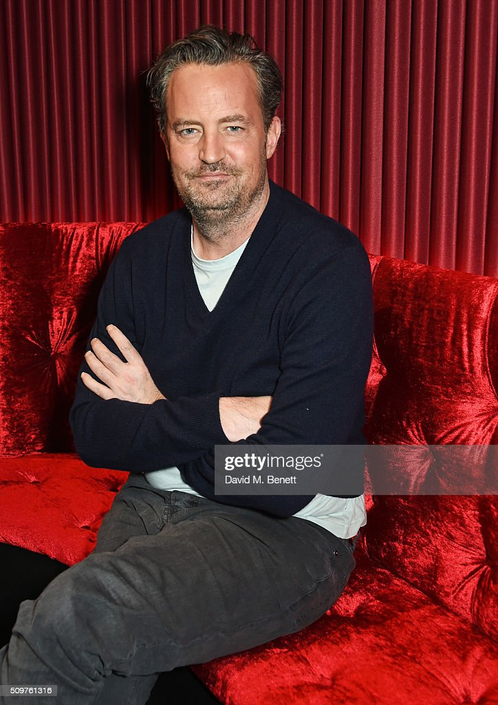 Matthew Perry poses at a photocall for 'The End Of Longing' a new play which he wrote and stars in at The Playhouse Theatre on February 8 2016 in...
