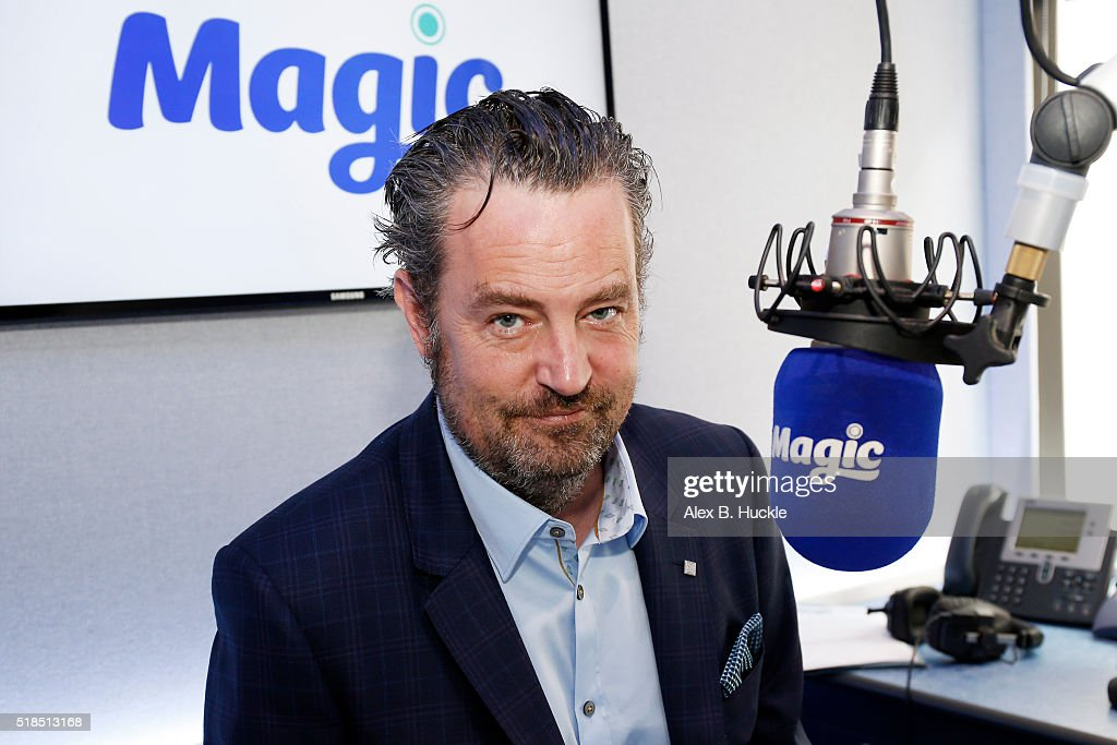 Matthew Perry poses for pictures at Magic Radio on April 1 2015 in London England Perry is presenting Magic Radio shows on April 2nd and 9th