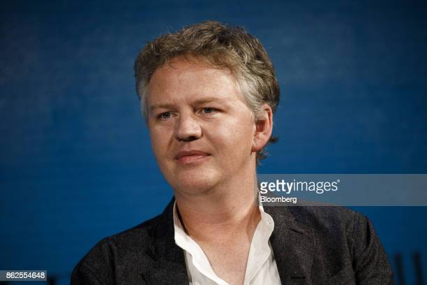 Matthew Prince cofounder and chief executive officer of CloudFlare Inc listens during the Wall Street Journal DLive global technology conference in...