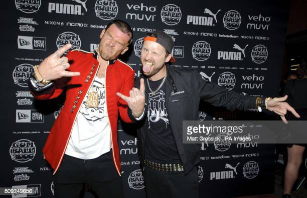 Matthew Pritchard and Michael Locke of Dirty Sanchez attend the Gumball 3000 Rally launch party at the new Playboy Club in Mayfair LondonPicture date...
