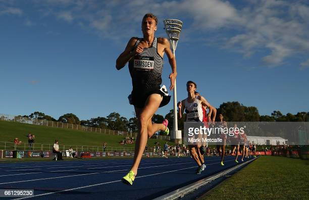 Matthew Ramsden of WA competes in the mens open 1500m during day six of the Australian Athletics Championships at Sydney Olympic Park Athletic Centre...