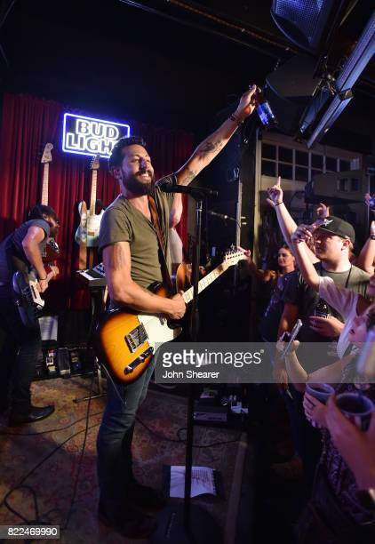 Matthew Ramsey of Old Dominion performs at the 'Dive Bar Show Presented By Bud Light' at Blue Bar on July 24 2017 in Nashville Tennessee