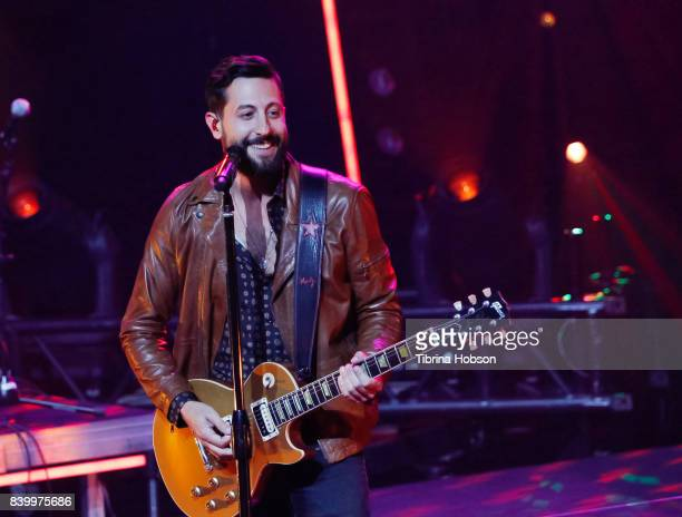 Matthew Ramsey of Old Dominion performs at the iHeartCountry album release party with Old Dominion at iHeartRadio Theater on August 14 2017 in...