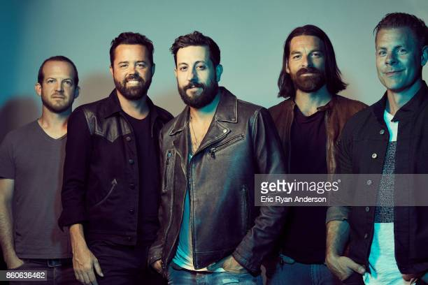 Matthew Ramsey Trevor Rosen Whit Sellers Geoff Sprung and Brad Tursi of American country music band Old Dominion are photographed at the 2017 CMA...