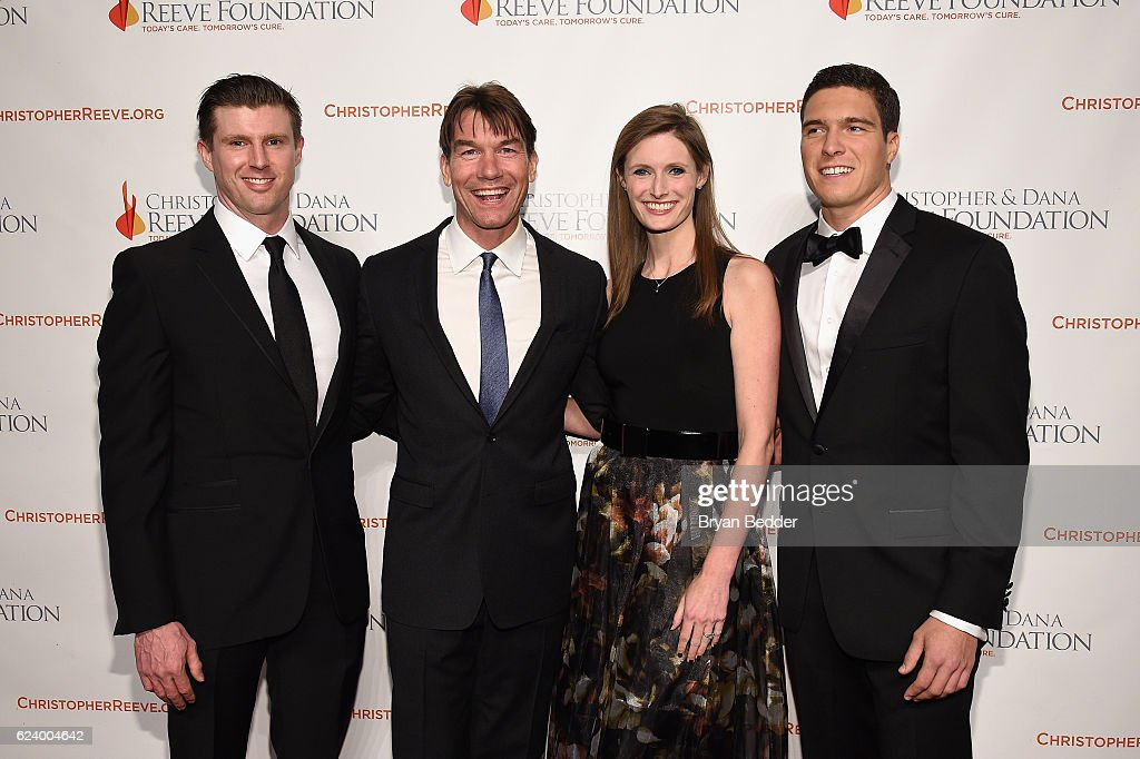 Matthew Reeve, Jerry O'Connell, Alexandra Reeve Givens and Will Reeve attend the Christopher & Dana Reeve Foundation hosts 'A Magical Evening' at Cipriani Wall Street on November 17, 2016 in New York City.